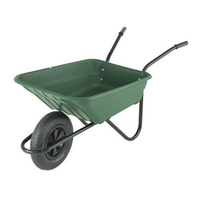 Shire Polypropylene Barrow with Pneumatic Tyre Green