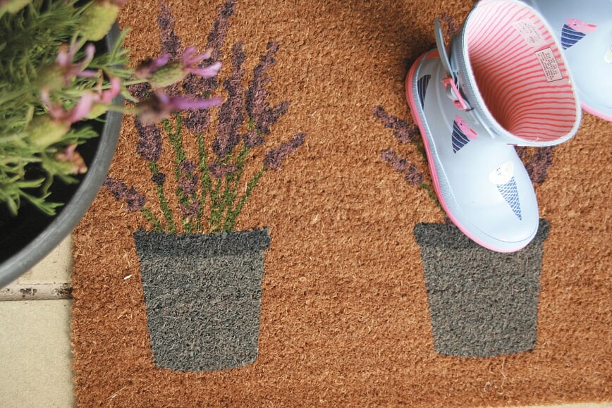 Patterned Coir Mat with Rubber Backing