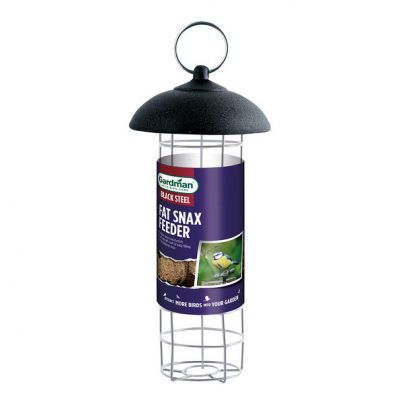 Gardman Black Steel Fat Snax Feeder - Regular Size