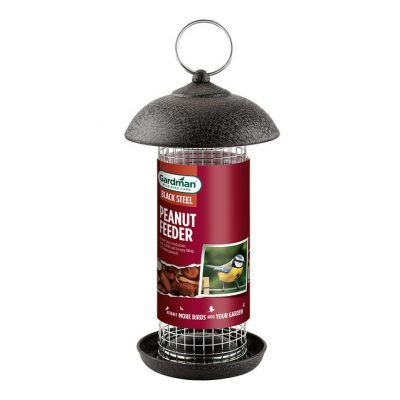 Gardman Black Steel Peanut Feeder - Regular Size