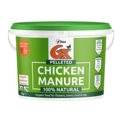 6X Pelleted Chicken Manure 8kg Tub
