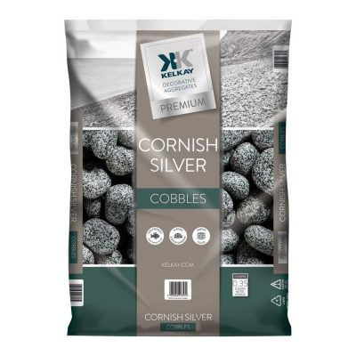 Cornish Silver Cobbles Premium Decorative Aggregate