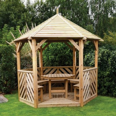 Woodshaw Willoughby Gazebo with Furniture
