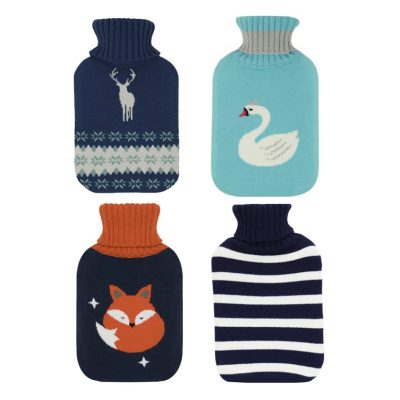 Hot Water Bottles With Knitted Covers