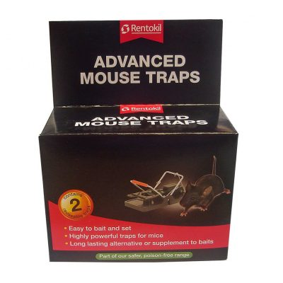 Plastic and metal spring action mouse trap