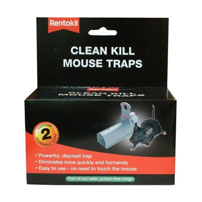 Set of 2 tunnel clean kill mouse traps