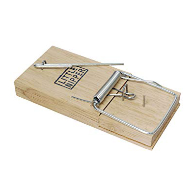 Wooden motion activated mouse trap