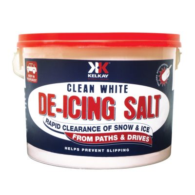 Tub of De-Icing Salt