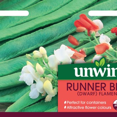 Unwins Seeds Runner Bean Dwarf Flamenco