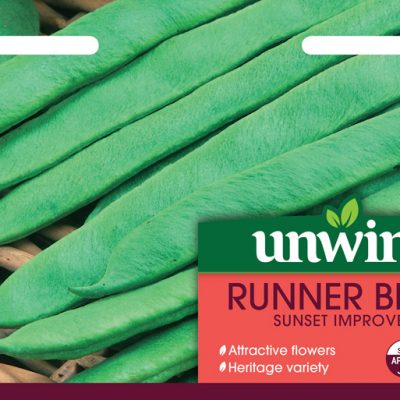 Unwins Seeds Runner Bean Sunset Improved