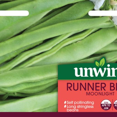 Unwins Seeds Runner Bean Moonlight