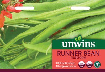 Unwins Seeds Runner Bean Firestorm