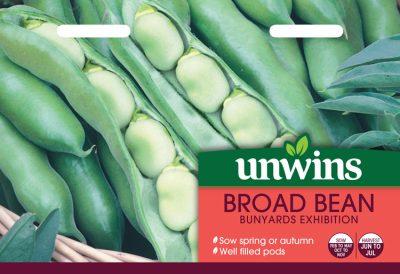 Unwins Seeds Broad Bean Bunyards Exhibition