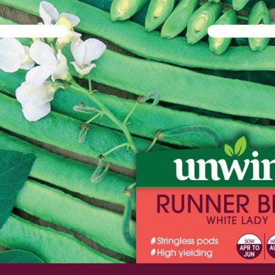 Unwins Seeds Runner Bean White Lady